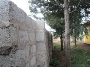 Teilstück der zu bauenden Mauer